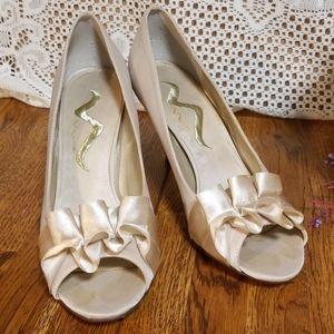 Nina Formal Peep Toe Pumps
